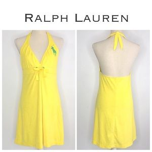 Ralph Lauren Yellow Polo Pony Cover Up Dress